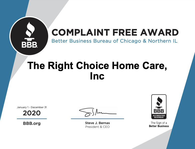 bbb awarded home care agency